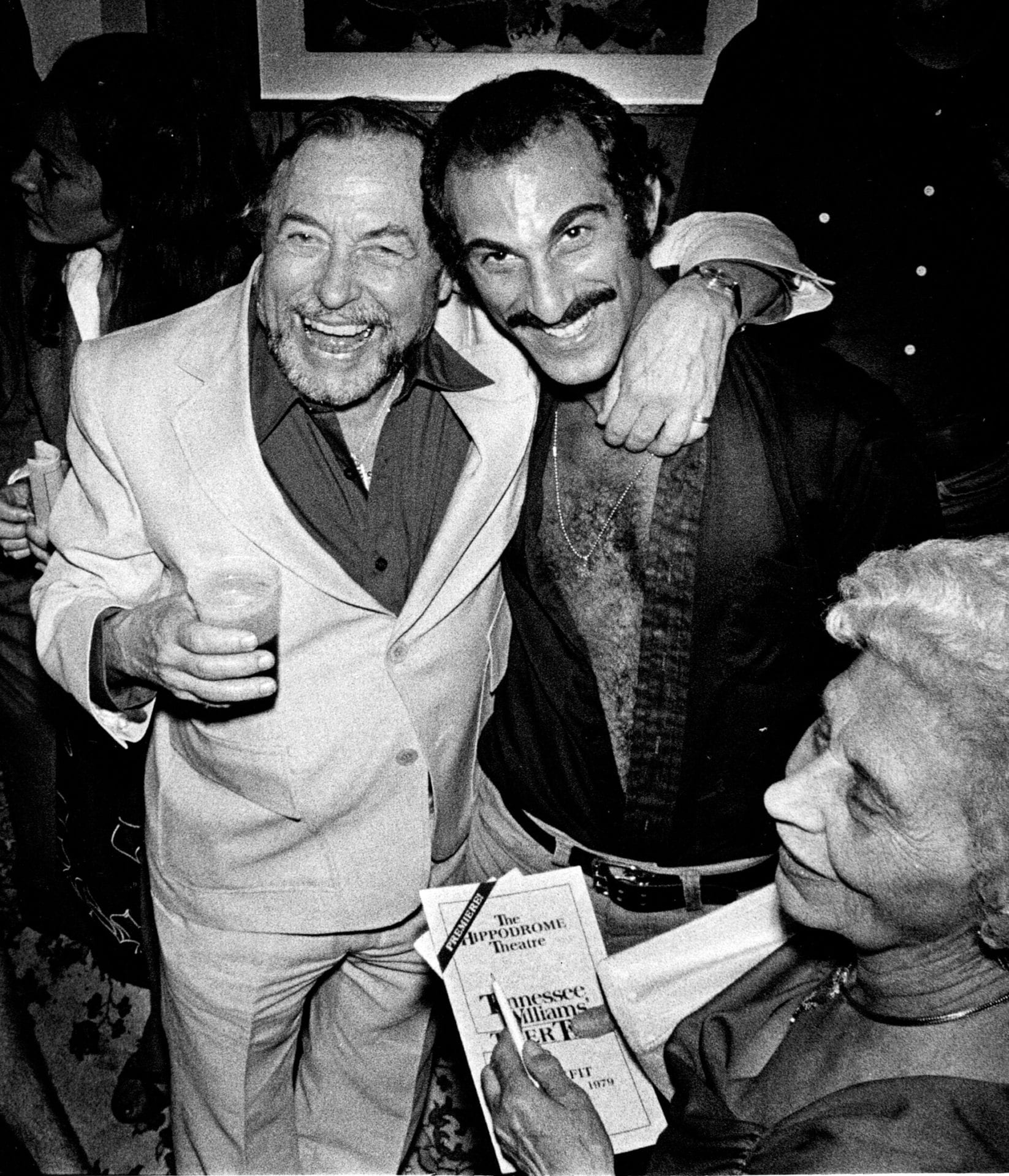 Jon with Tennessee Williams